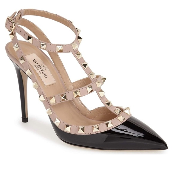 5ac9f483328 Authentic Black Patent Valentino Rockstud Heels. M 5aac0f4e9d20f0b3bd276ea4